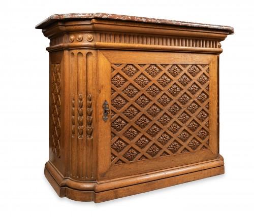 """Carved oak """"buffet"""" Louis XIV period - Furniture Style Louis XIV"""