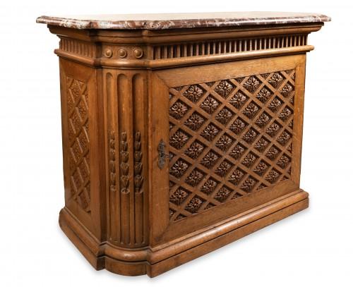 """Furniture  - Carved oak """"buffet"""" Louis XIV period"""