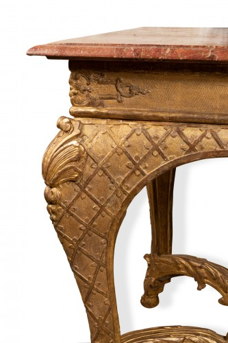 Table console Régence period 18th century - Furniture Style French Regence
