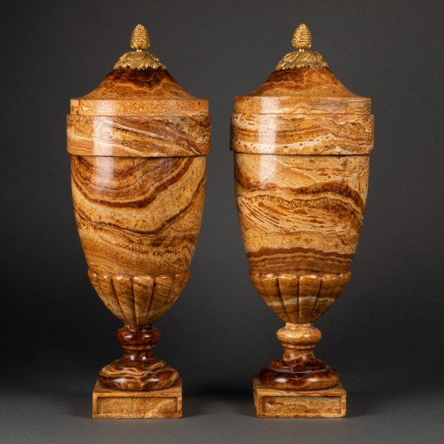 Decorative Objects  - Alabaster vases pair late 18th century
