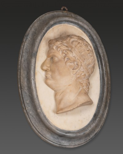 Two marble medallions Italy 17 / 18th century - Louis XIV