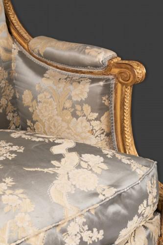 Antiquités - Louis XVI marquise stamped JACOB 18th century