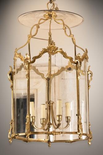 Lantern Louis XV period mid 18th century - Lighting Style Louis XV
