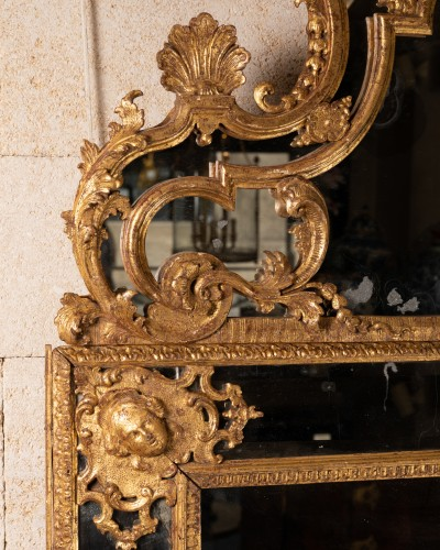 Antiquités - Régence mirror 18th century