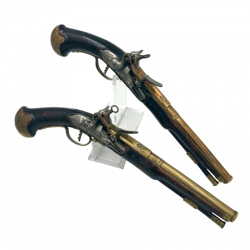 Pair of flintlock pistols 18th century Netherlands