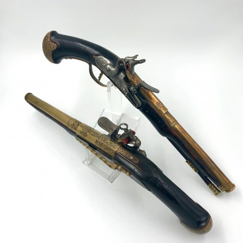 Pair of flintlock pistols 18th century Netherlands - Collectibles Style Louis XV