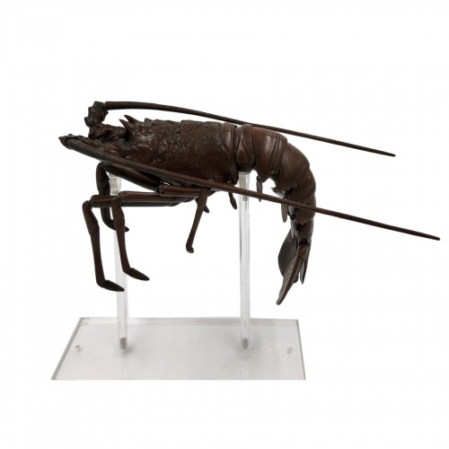 Bronze Articulated Lobster, late 19th century, Japan