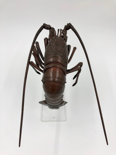 Bronze Articulated Lobster, late 19th century, Japan -