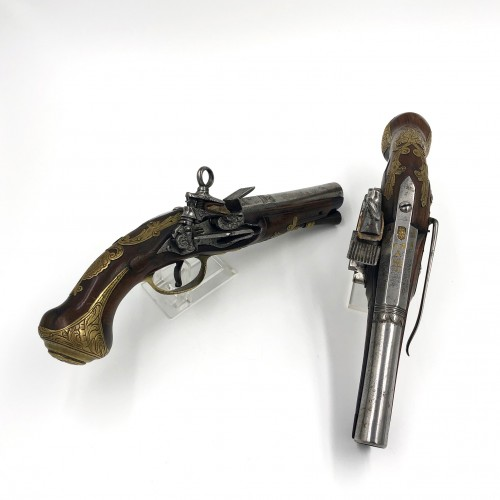 Pair of belt pistols in La Miquelet, Spain late 18th century - Collectibles Style