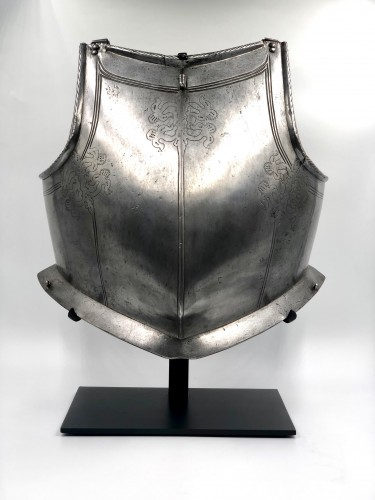 Engraved armour plastron, Portugal late 16th century - Collectibles Style Renaissance