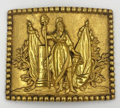 Belt plate of the representative of the people in the armies, French Revolu -