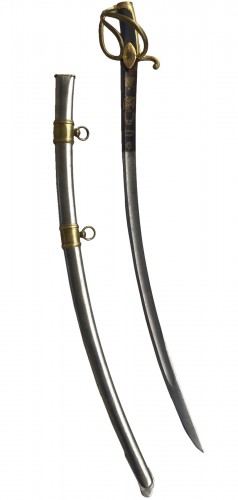 Light cavalry sword model An IX with emblems of the United States of A