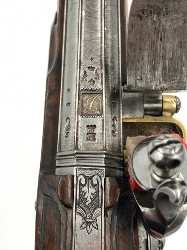 Empire - Silex Pistol, With Emblems Of The Horse Hunters And The Legion Of Honor