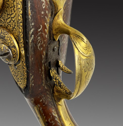 18th century - Silex Pistol with Double Flat Barrel, France, Oriental Market, 18th century