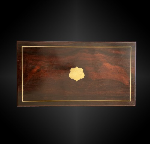 Necessary box containing a pair of percussion pistols signed LEPAGE Frères  -