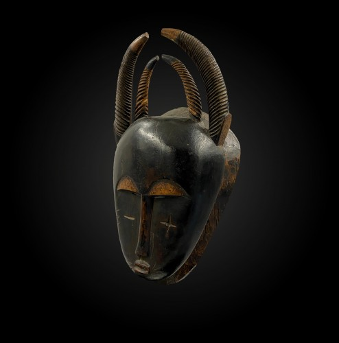 Horn mask  Yaouré Culture, Ivory Coast  - Tribal Art Style