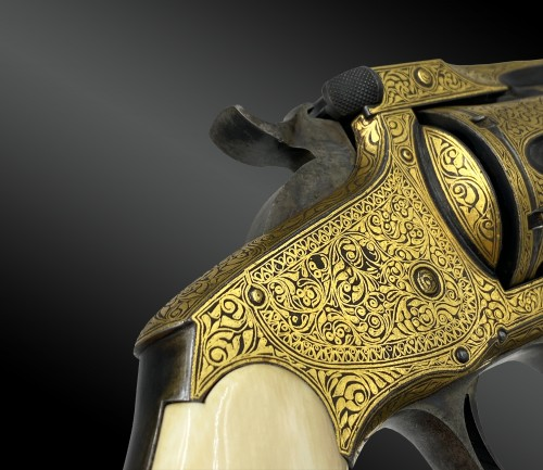 19th century - Smith & Wesson revolver, N°3. Exceptional Model For The Turkish Market. XIX