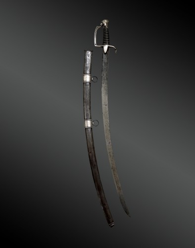 Saber of light cavalry troop awarded to Commander Nicolas Muller Maréchal d -