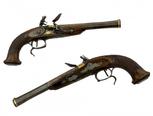 Pair Of General Officer Flintlock Pistols Signed Lepage Arquebusier De l'Em