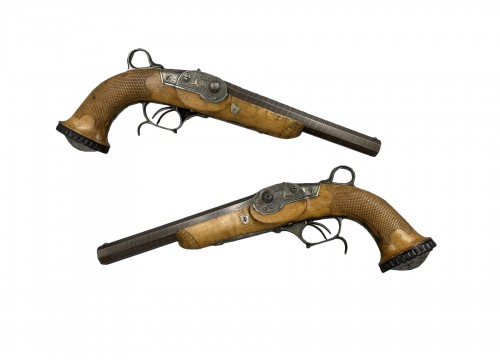 Pair Of System Pistols, by Jean Antoine ROBERT in Paris, About 1826
