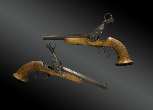 Pair Of System Pistols, by Jean Antoine ROBERT in Paris, About 1826 - Collectibles Style