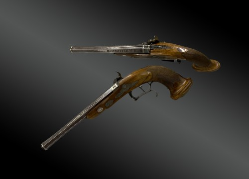 Pair Of Officer's Percussion Pistols, Manufacture De Versailles - Collectibles Style