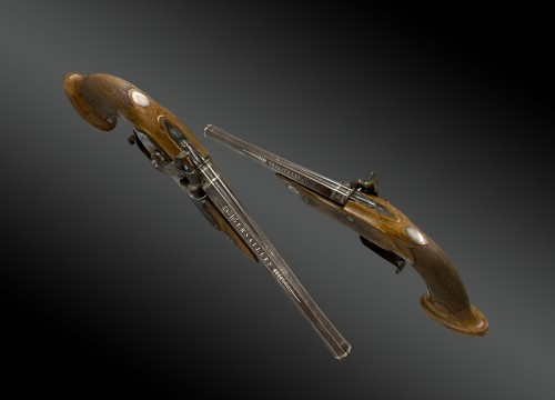Collectibles  - Pair Of Officer's Percussion Pistols, Manufacture De Versailles