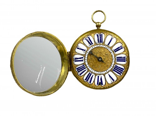 Onion watch, with cock, signed François Houet Duchesne in Paris.  Louis XV