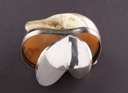 Netherlands Silver Mounted Table Snuff Box -