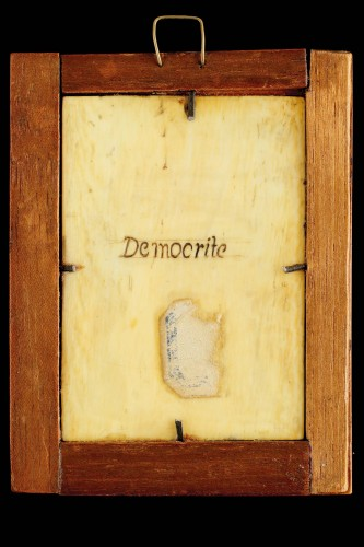 Netherlandish Ivory Relief Portrait Plaque of the Philosopher Democritus  - Sculpture Style