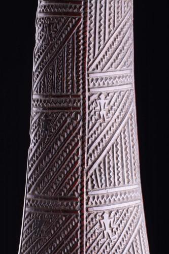 Antiquités - Polynesian Tongan Ironwood War Club of 'Apai'Apai'