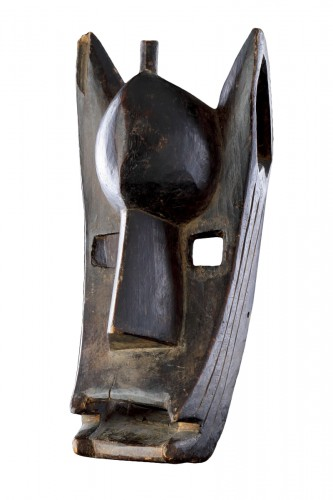 Mali Bamana Koré Initiation Mask in the Form of a Hyena 'Surukuw'