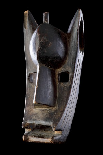 Tribal Art  - Mali Bamana Koré Initiation Mask in the Form of a Hyena 'Surukuw'