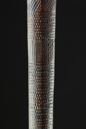 Tribal Art  - Polynesian Tongan Islands Chiefly Two Handed Ironwood War Club 'Apa'Apai'