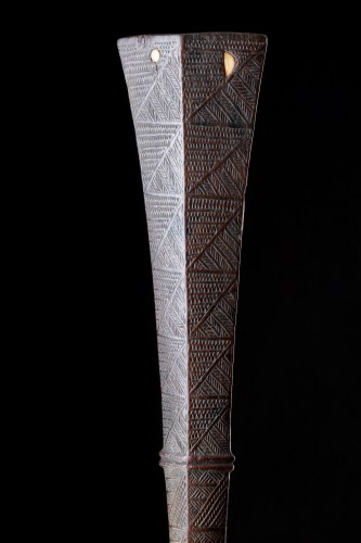 - Polynesian Tongan Islands Chiefly Two Handed Ironwood War Club 'Apa'Apai'
