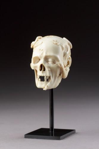 An Exceptional German Carved Ivory Vanitas  - Curiosities Style