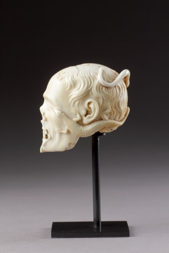 Curiosities  - An Exceptional German Carved Ivory Vanitas