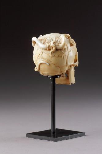 - An Exceptional German Carved Ivory Vanitas