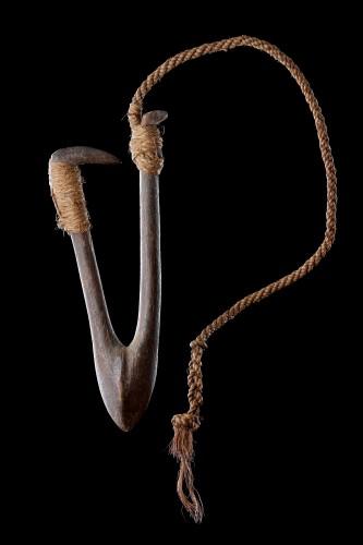 Tribal Art  - Polynesian Tuvalu Ellice Islands Fish Hook 'Kou Boru'
