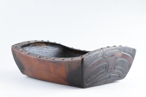 Northwest Coast Tlingit Peoples Red Cedar-Wood Ceremonial Oil Dish -