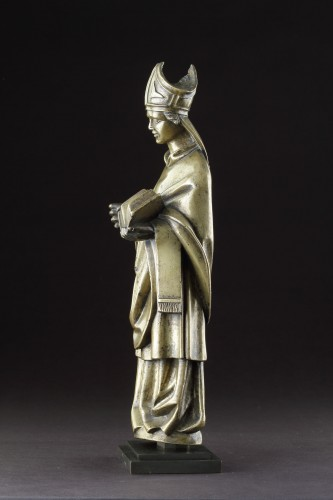 Medieval Gothic Tournai Bronze Standing Figure - Middle age