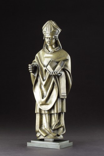 Middle age - Medieval Gothic Tournai Bronze Standing Figure