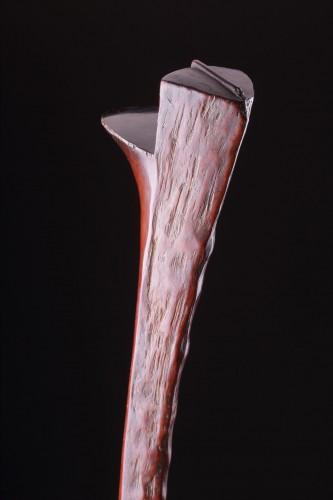 19th century - Fijian Carved Vest Hardwood Gata or Snake War Club 'Kiakavo'