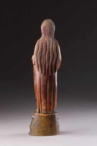 - Indo-Portuguese Goa Carved Ivory Devotional Statuette of the Virgin Mary