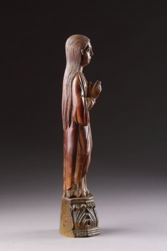 Antiquités - Indo-Portuguese Goa Carved Ivory Devotional Statuette of the Virgin Mary
