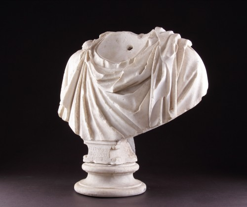 Ancient Art  - Ancient Roman Marble Shoulders from a Portrait Bust of a Man
