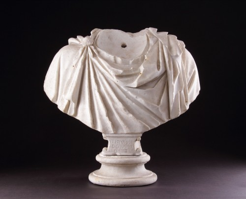 BC to 10th century - Ancient Roman Marble Shoulders from a Portrait Bust of a Man
