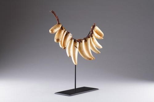 Fijian Sperm Whale Tooth Necklace 'Vuasagale' - Tribal Art Style