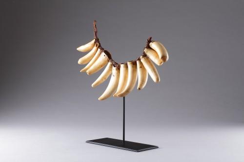Tribal Art  - Fijian Sperm Whale Tooth Necklace 'Vuasagale'