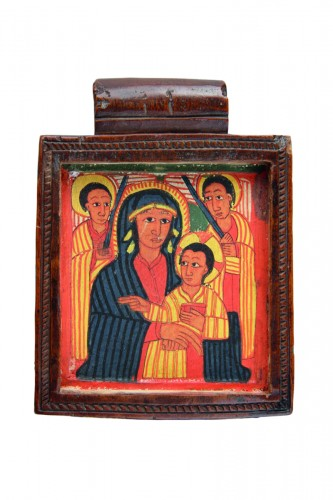 Ethiopian Christian Devotional Double Sided Tablet Pendant